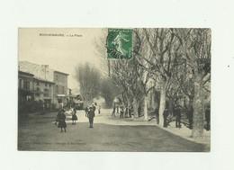 07 - ROCHEMAURE - La Place Animée Bon état - Rochemaure