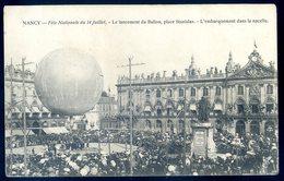 Cpa Du 54  Nancy Fête Nationale Du 14 Juillet Lancement Du Ballon Place Stanislas Embarquement Dans Nacelle  DEC19-15 - Nancy