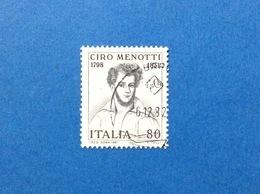 1981 ITALIA CIRO MENOTTI PATRIOTA FRANCOBOLLO USATO STAMP USED - 6. 1946-.. Repubblica