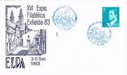 34984. Carta Exposicion ELDA (Alicante) 1983. EXFIELDA 83 - 1931-Hoy: 2ª República - ... Juan Carlos I