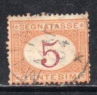 Rox 1870 Regno D'Italia  Segnatasse 5c  Usato - 1861-78 Vittorio Emanuele II