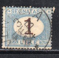 Rox 1870 Regno D'Italia  Segnatasse 1 Lira  Usato - 1861-78 Victor Emmanuel II