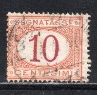 Rox 1890 Regno D'Italia  Segnatasse 10c  Usato - Taxe
