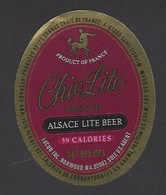 Etiquette De Bière    -  Chic Lite   -    Brasserie Adelshoffen à Schiltigheim   (67) - Beer