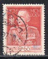 Rox 1924 Regno D'Italia Giubileo Del Re 60c Usato - 1900-44 Victor Emmanuel III