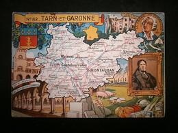 CARTE DEPARTEMENTALE TARN ET GARONNE PINCHON BLONDEL LA ROUGERY - France