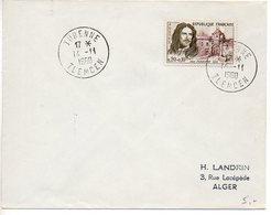 CaD De 'TURENNE TLEMCEN' De 1960 Sur Enveloppe Souvenir Affranchie Timbre De France Turenne - Algérie (1924-1962)