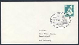Deutschland Germany 1981 Brief Cover - 100 Jahre Eisenbahndirektion Köln - DB - Fahrzeugschau / Vehicle Show - Trains