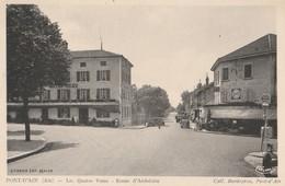 CPA  01 PONT D'AIN LES QUATRE VENTS RTE D'AMBERIEU STATION ESSO - Unclassified