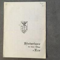 ALPES MARITIMES HISTORIQUE DU VIEUX VILLAGE D'EZE PETIT DEPLIANT - Vieux Papiers