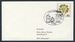 Deutschland Germany 1981 Brief Cover - 25 Jahre BSG/BSW - Briefmarkenausstellung, Crailsheim / Stamp Exhibition - Trains