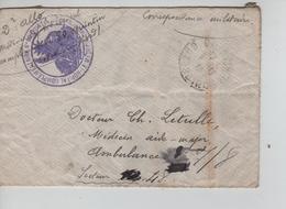 85PR/ Lettre Correpondance Militaire C.Quintin 9/12/18 De Dr.Allo Hôpital Complémentaire 80 > Secteur 48 - Marcophilie (Lettres)