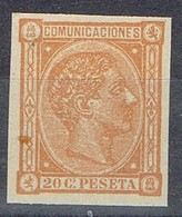 Lote 1 Sellos Alfonso XII España .Falso Filatelico, Repro, Fantasia, Num 165 * - Ungebraucht