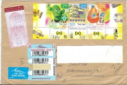 Big Cover - Israel R - Lettre/Letter Via Macedonia 2007.nice Stamps Motive :2007 Israel Educational Television - Israel