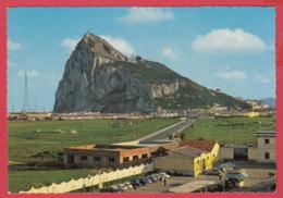 CPM- GIBRALTAR - Vue Du Rocher Depuis La Frontière Espagnole *2 SCAN - Autres