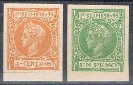 Lote 2 Sellos PUERTO RICO España .Falso Filatelico, Repro, Fantasia, Num 138-148 * - Puerto Rico