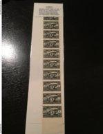 Superbe Et Rare Grand Liban 1928 Varieté Bande De 10 Dentelés Et Non Dentelés N° YT 164 Forte Cote & Centrage ! - Gran Libano (1924-1945)
