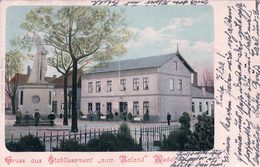 Allemagne, Holstein, Gruss Aus Etablissement Zum Roland Wedel (13.9.1903) - Wedel