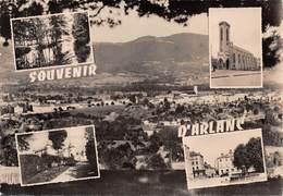 63 // SOUVENIR D'ARLANC - VUE GÉNÉRALE D'ARLANC-VILLE - COLLECTION MAILLET - TIMBRE EUROPA 20 FRS - Autres Communes