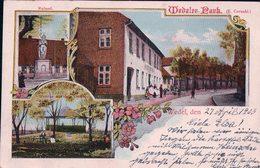Allemagne, Holstein, Wedel, Wedeler Park, Cachet Ovale Bahnpost Blankenese - Wedel (28.4.1903) - Wedel
