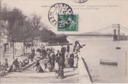 Bv - Cpa LORIENT - Bords Du Scorff - Perspective Du Pont Suspendu - Vue Prise Du Lavoir De La Côte D'Alger - Lorient