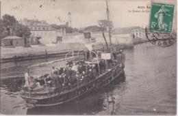 Bv - Pas Courante Cpa LORIENT - Le Bateau De Groix En Partance - Lorient