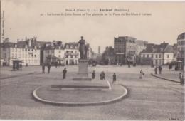 Bv - Cpa LORIENT - La Statue De Jules Simon Et Vue Générale De La Place Du Morbihan - Lorient