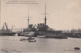"""Bv - Cpa LORIENT - L'entrée Du Port De Guerre - Le """"Mirabeau"""" Et Le Contre Torpilleur """"Mameluk"""" - Lorient"""