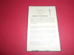 MILITARIA WWII FICHEROULLE Marcel Soldat Au 2 Chasseurs à Pieds Né ROSELIES1920 Mort à RUYSSELEDE 1940 - Obituary Notices