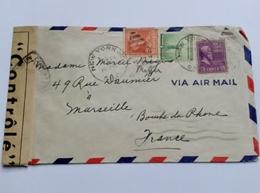 USA Lettre Avec Censure Pour La France CaD NEW YORK  1941 POUR MEYER - Vereinigte Staaten