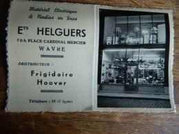 WAVRE:PETIT CALENDRIER DE 1953 DES ETS HELGUERS 7 ET 8 PLACE CARDINAL MERCIER WAVRE AVEC PHOTO DU MAGASIN - Petit Format : 1941-60
