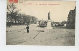 AUTUN - Place Des Marbres - Statue De Divitiac - Autun