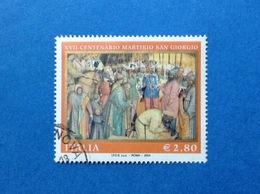 2004 ITALIA FRANCOBOLLO USATO STAMP USED MARTIRIO SAN GIORGIO - 6. 1946-.. Repubblica