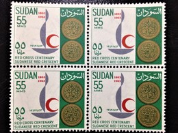 """Sudan, 1 X 4 Stamps, 1963,  """"Institutions"""", """"Red Cross"""", 55 MMS., /MINT** - Sudan (1954-...)"""