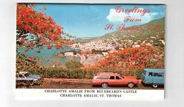 ST. THOMAS, US Virgin Islands,  Old Souvenir Fold-Out Postcard - Jungferninseln, Amerik.