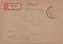 RECOMMANDE  DE RUMBURG  1944  VOIR LES SCANS - Lettres & Documents