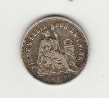 1 DINERO ARGENT 1866 - Peru