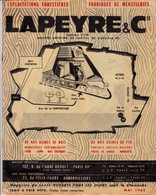 PARIS AUBERVILLIERS CATALOGUE LAPEYRE EXPLOTATIONS FORESRIERES MENUISERIES ANNEE 1962 19 PAGES - Other