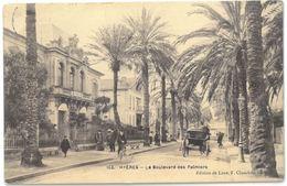CPA HYERES - Le Boulevard Des Palmiers - Ed. De Luxe F. Chambourlier N°103 - Hyeres