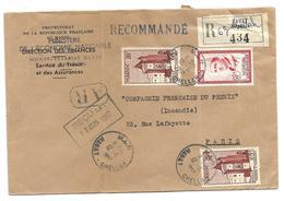 MAROC Lettre Recommandé Oblitération RABBAT Le 12 6 1957 - Maroc (1891-1956)