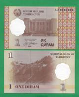 TAJIKISTAN – 1 DIRAM - 1999 - UNC - Tadzjikistan