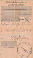 30/749 -- CANTONS DE L'EST En 1920 - Posteinlieferungschein LONTZEN 6/1920 Vers Burg RAEREN - [OC55/105] Eupen/Malmedy