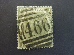 GRANDE BRETAGNE, Année 1872-73, YT N° 48 Planche 12 Gris Olive, Oblitéré (cote 150 EUR) - 1840-1901 (Victoria)