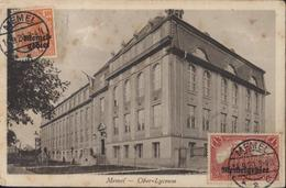 YT Deutsches Reich Surcharge Memel Gebiet N°3  + 13 CAD Memel 14 9 20 CPA Memel Ober Lyceum Occ Lituanie Par Allemagne - Memel (Klaïpeda)