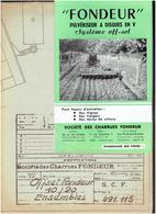 PLAN 1/5 ET DEPLIANT 1949 SOCIETE CHARRUES FONDEUR A TOULOUSE PULVERISATEUR OFF SET 10/20 - Tracteurs