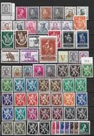 Belgique België 1940-1945 - 66 Timbres ** Cote 55 Euros - Neufs