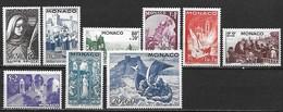 MONACO 1944 - Fête De St-Dévote - YT 265 à 273 - ** (MNH) Cote: 25 Euros - Neufs