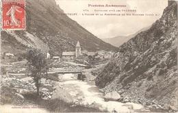 Dépt 09 - L'HOSPITALET-PRÈS-L'ANDORRE - L'Église Et La Passerelle De Ste Suzanne (1.445 M) - Phototypie Labouche, N° 874 - Autres Communes