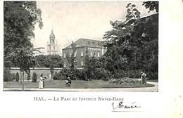CPA - Belgique - Halle - Hal - Le Parc Et Institut Notre-Dame - Halle