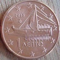 GRECIA GREECE GRECE GRIECHENLAND - 2015 - 0,01 EURO = 1 Cent UNC From Roll - Grèce